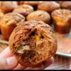 Muffins à la châtaigne et aux pêches