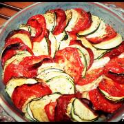 Tian de légumes au chorizo