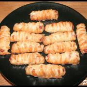 Petits feuilletés Jambon & Fromage fouetté échalote, ciboulette