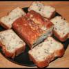 Cake au roquefort, jambon & noix