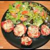 Rondelles d'aubergine au jambon & fromage