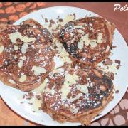 Pancakes à la farine de châtaigne & chocolat