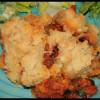 Crumble courgettes & champignons à la tomme corse