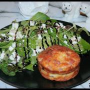 Clafoutis au Philadelphia®, jambon & gruyère