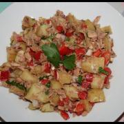 Salade Pommes de Terre, Thon et Poivron Rouge